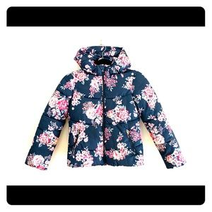 Benetton Floral Print Hooded Jacket
